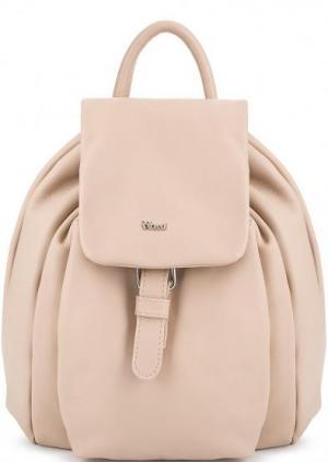 Кожаный рюкзак с узкими лямками Bruno Rossi. Цвет: бежевый