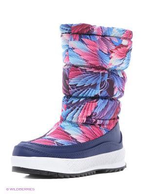 Дутики EVITA. Цвет: голубой, сиреневый, розовый