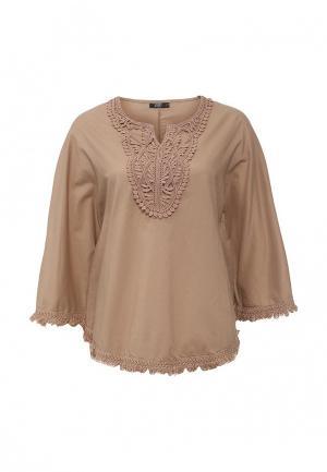 Блуза Care of You. Цвет: коричневый