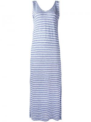 Длинное платье Setana Bellerose. Цвет: синий