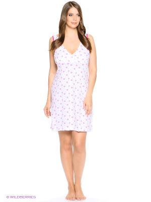 Ночная сорочка РОССИЙСКИЙ ТРИКОТАЖ. Цвет: белый, розовый