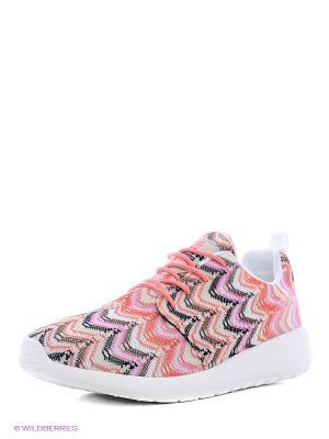 Кроссовки UN1TA. Цвет: розовый, белый, бежевый