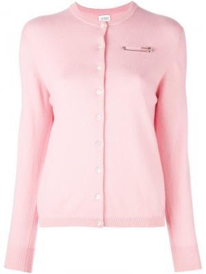 Тонкий кардиган Le Kilt. Цвет: розовый и фиолетовый