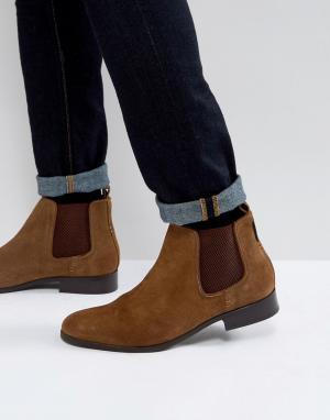 Ben Sherman Светло-коричневые замшевые ботинки челси. Цвет: рыжий