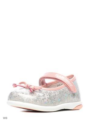 Туфли Flamingo. Цвет: серебристый, розовый