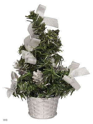 Елка новогодняя А М Дизайн. Цвет: зеленый, серебристый, белый