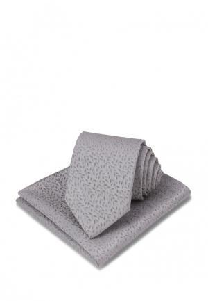 Комплект галстук и платок Carpenter. Цвет: серый