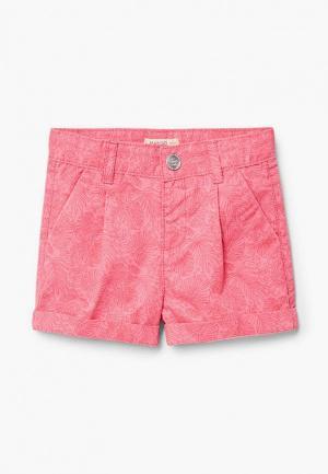 Шорты Mango Kids. Цвет: розовый