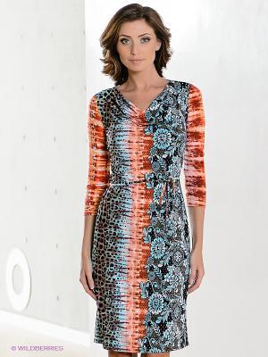 Платье Hammond. Цвет: голубой, оранжевый, желтый, черный