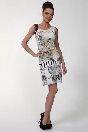 Платье Save the Queen. Цвет: бежевый, черный