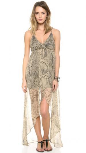 Платье Deacon Rae Francis. Цвет: телесный/черный мульти