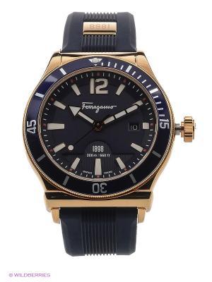 Часы Salvatore Ferragamo. Цвет: синий