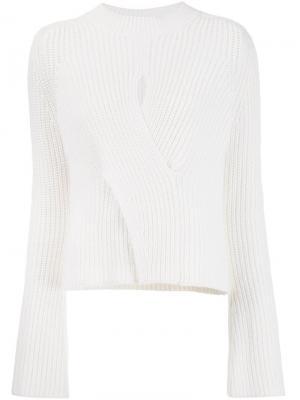 Трикотажная блузка Jacinta Misha Nonoo. Цвет: белый