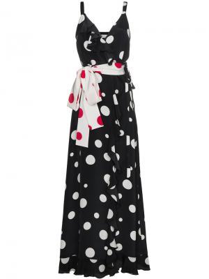 Платье в горох Geisha Racil. Цвет: чёрный