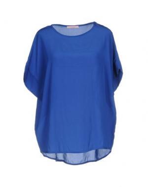 Блузка FRANCESCA FERRANTE. Цвет: синий