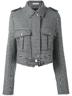 Куртка с принтом ломаной клетки JW Anderson. Цвет: чёрный