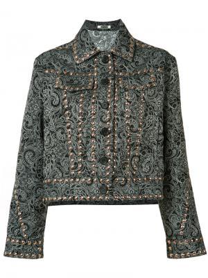 Куртка с заклепками и узором пейсли Jourden. Цвет: чёрный