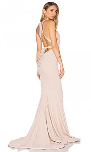 Вечернее платье las lasciiv Gemeli Power. Цвет: румянец