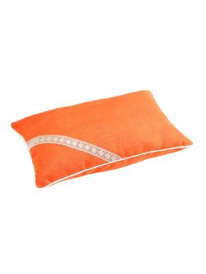 Подушка Кедровая магия ORANG с кедровой стружкой, чехол лен Размер: 50х70 BIO-TEXTILES. Цвет: оранжевый