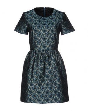 Короткое платье TARA JARMON. Цвет: цвет морской волны