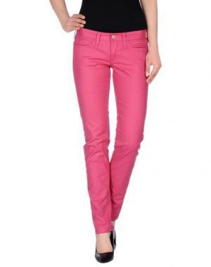 Джинсовые брюки M.GRIFONI DENIM. Цвет: коралловый