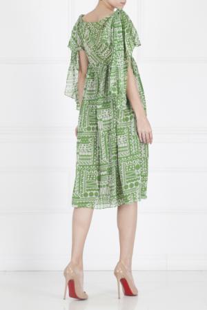 Шелковое платье Duro Olowu. Цвет: зеленый