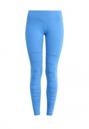 Тайтсы Nike. Цвет: голубой