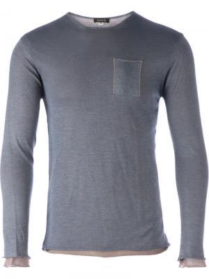 Многослойный свитер Basalte. Цвет: синий