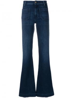 Расклешенные джинсы с высокой талией The Seafarer. Цвет: синий
