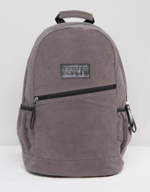 Systvm Серый рюкзак из искусственной замши. Цвет: серый