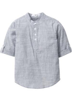 Рубашка (темно-синий/белый в полоску) bonprix. Цвет: темно-синий/белый в полоску
