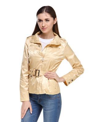 Куртка VipDressCode. Цвет: бежевый