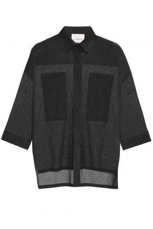 Рубашка из хлопка PG-180636 Studia Pepen. Цвет: черный