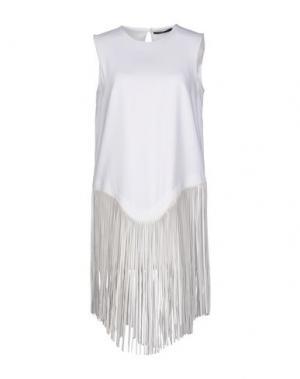 Короткое платье GAETANO NAVARRA. Цвет: белый