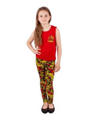 Комплект одежды Апрель. Цвет: черный, терракотовый, красный, желтый