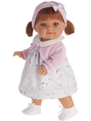 Кукла Эвелина, 38см Antonio Juan. Цвет: бледно-розовый