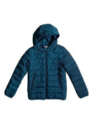 Куртка ROXY. Цвет: морская волна, темно-зеленый, темно-синий