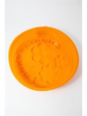 Форма для выпечки силиконовая, 28х5см, С праздником Vetta. Цвет: оранжевый