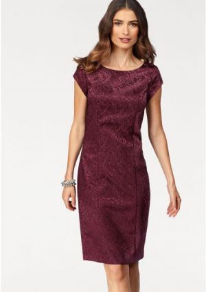 Платье-футляр Laura Scott. Цвет: вишневый, темно-синий