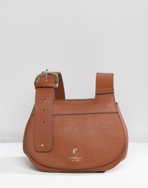 Fiorelli Седловидная сумка с пряжкой Georgia. Цвет: коричневый