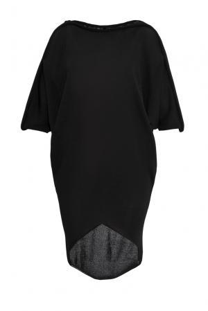 Трикотажное платье-туника 139522 Firkant. Цвет: черный
