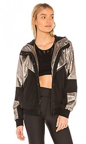 Куртка daze ALALA. Цвет: металлический серебряный
