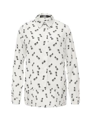 Блузка SKANDAЛ. Цвет: молочный