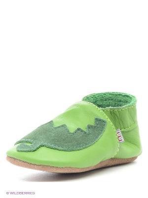 Пинетки MELTON. Цвет: зеленый