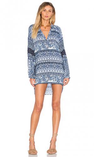 Платье miss des barres Stillwater. Цвет: синий