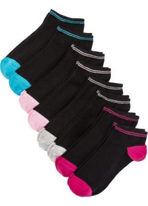 Носки для спортивной обуви (8 пар) (черный/цветные) bonprix. Цвет: черный/цветные