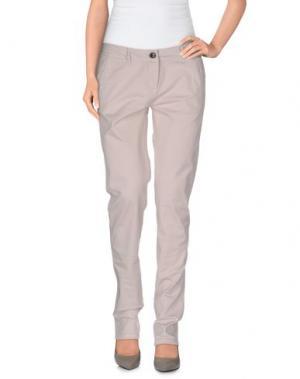 Повседневные брюки REFRIGUE. Цвет: светло-серый