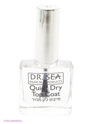 DrS Верхнее покрытие для быстрого высыхания лака 11мл. Dr. Sea. Цвет: прозрачный