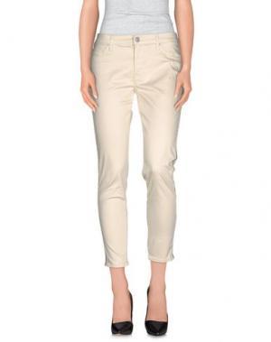 Повседневные брюки HUDSON. Цвет: слоновая кость