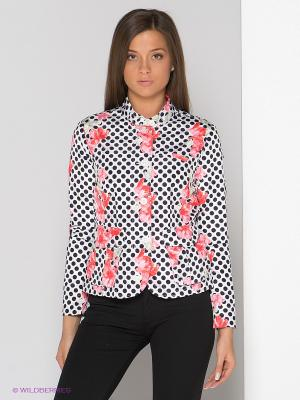 Куртка Bomboogie. Цвет: белый, черный, розовый